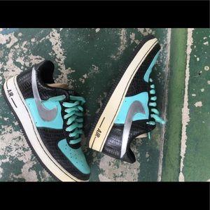 "CUSTOM Nike Air Force 1 Low ""Tiffany"" size 9"